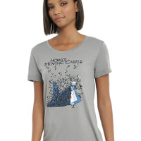 Her Universe Studio Ghibli Howl's Moving Castle Feathers Girls T-Shirt