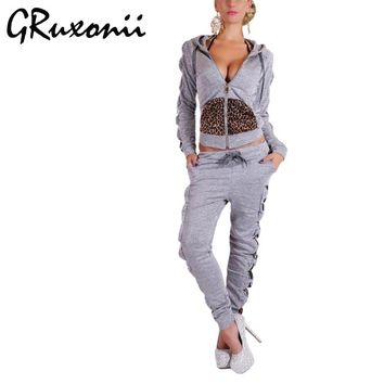 GRuxonii Tracksuit for Womens Two Piece Set Top and Pants Women Sporting Suit Women's Costume Clothes Sportswear Sweatsuits