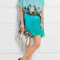 Samudra - Paradise printed cotton and silk-blend coverup