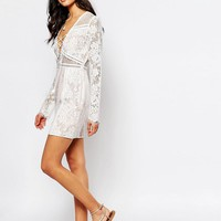 The Jetset Diaries | The Jetset Diaries Caribbean Mini Dress In Ivory at ASOS