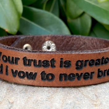 Personalized Leather Bracelet, Customized Leather Bracelet, Laser Engraved Genuine Leather Bracelet Unisex, Valentines Day Gift