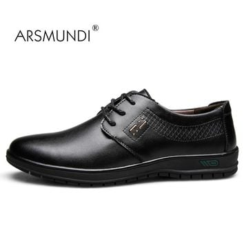 ARSMUNDI Original Men Dress Shoes Fall 2017 Man's Shoes Microfiber Leather Breathable Waterproof Gift Mens Dress Shoes YET-1686