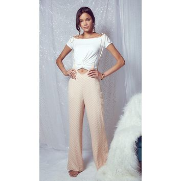 Diamonds & Pearls Jumpsuit Blush
