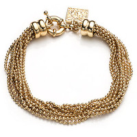 Anne Klein Brass Ball Layered Chain Bracelet