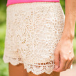 Love In Lace Shorts, Cream
