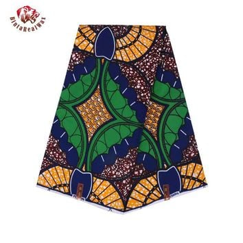 High Quality 2018 Ankara African Polyester Wax Prints Fabric Super Hollandais Wax 6 yards African Fabric for Party Dress PL995
