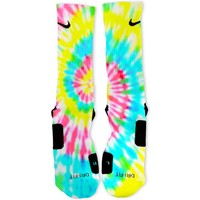 Tie Dye Joy Custom Nike Elite Socks