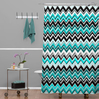 Beauty Shower Curtain Chevron Aztec Pattern Inspired