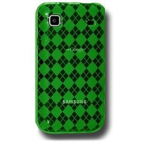 Amzer Luxe Argyle Skin Case for Samsung Vibrant T959/Samsung Galaxy S 4G SGH-T959V - Green
