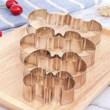 4 Piece Stainless Steel Bat Shaped Cookie Cutter Set