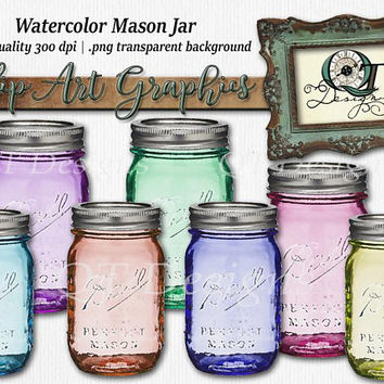 Quality Time Designs | Ball Mason Jar Set| Digital Download | Personal or Commercial Use | Transparent Background | PNG | Clip Art