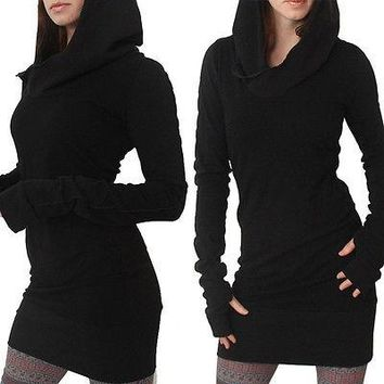 2018 Women New Style Fashion Hot  Long Sleeve Casual Bodycon  Hoddie Sweater Fullover Jumper Dress