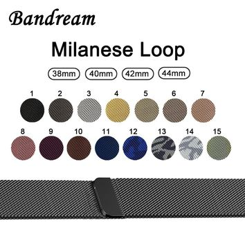 Milanese Loop Watchband 1:1 for iWatch Apple Watch 38mm 40mm 42mm 44mm Series 1 2 3 4 Magnet Band Stainless Steel Strap Bracelet