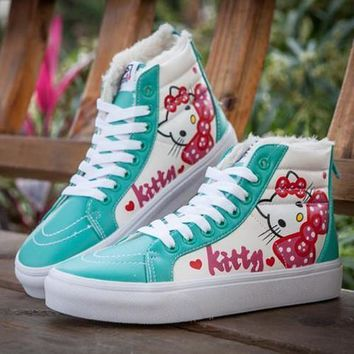 VANS X Hello Kitty SK8-Hi Flats Ankle Boots Sneakers Sport Shoes-2