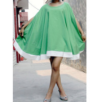 chiffon dress--loose dress  beach dress  shawl  dress green dress cape dress  goddess dress,