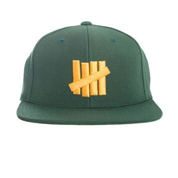 ONETOW Undefeated 5 Strikes Snapback In Green