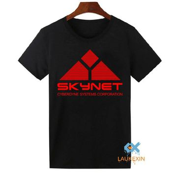 Novelty Skynet Mens T-shirt Cyberdyne Systems Terminator Arnold 80s Retro Tee Shirts Cool Tops Camiseta Homme Free Shipping