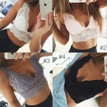 Fashion Women Sexy Lace Bikini Crop Tops  = 5699070657