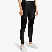 Leather & Suede Legging - Karl Lagerfeld