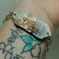 Mantra bracelet Inspirational jewelry Shine Bright Polymer clay
