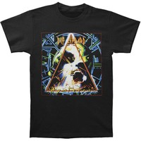Def Leppard Men's  Hysteria Slim Fit T-shirt Black