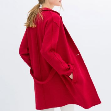 'The Diana' Red Long Sleeve Trench Coat