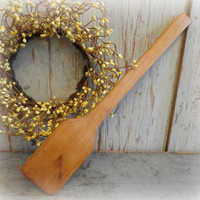 long antique butter paddle / early wooden kitchen primitive / country farmhouse utensil / EPSTeam