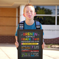 Last day of school chalkboard, First day of school, Back to School sign, Last day of school sign, School Chalkboard sign, DIY PRINTABLE