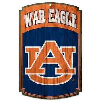 "AUBURN TIGERS WAR EAGLE WOOD SIGN 11""X17'' BRAND NEW  SHIPPING WINCRAFT"