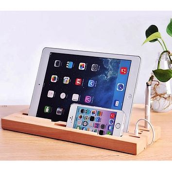 Wooden Gadget Stand with Touch Screen Pen
