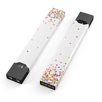 Skin Decal Kit for the Pax JUUL - Ascending Multicolor Polka Dots