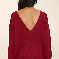 Island Ferry Red Sweater