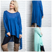 Royal Blue Not So Basic Top