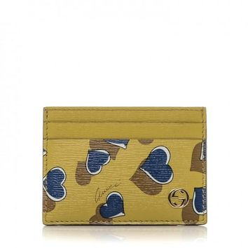 Gucci Heart Printed Interlocking GG Card Case