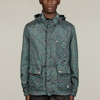 Kenzo Men's Floral Print Short Parka Jacket