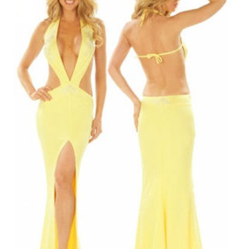 Yellow Straight Micro / Beaded Applique