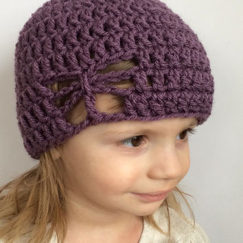 Crochet butterfly hat, spring hat for kids, butterfly hat