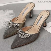 Manolo Blahnik Women Fashion Casual Heels Shoes-1