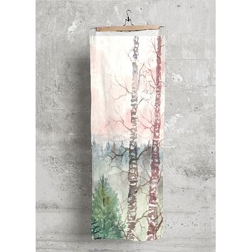 Birch Trees Winter Art
