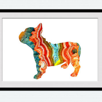 French Bulldog poster French Bulldog print Animal print Dog watercolor poster Dog print Home decoration Kid room decor Wall hanging art W431