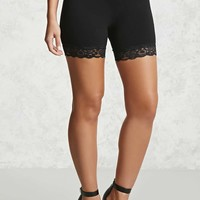 Lace-Trim Bike Shorts