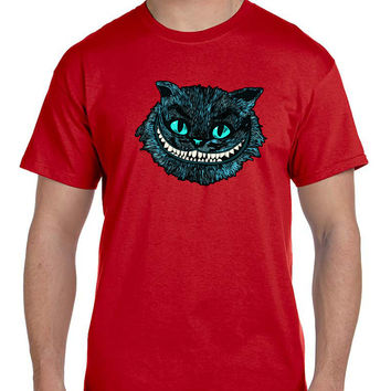 Cheshire Blue Head Cat Mens T Shirt