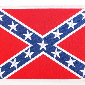 """Southern Rebel USA Flag Iron On Embroidered Patch 2.6""""/6.8cm"""
