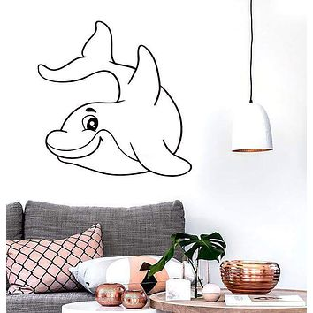 Vinyl Decal Wall Stickers Dolphin Fish Ocean Marine Decor Living Room (z1646)