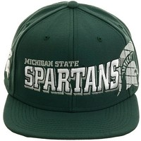 Nike Team Sports Amplify Michigan State Spartans Snapback Hat - Green