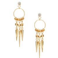 Love Rocks Spike Hoop Earring