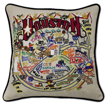Houston Hand Embroidered Pillow