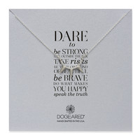 dare to… curved spike bar necklace, sterling silver, 18 inch - Dogeared