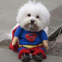 Dog Superman Clothes Pet One-piece Jumpsuit Puppy Costumes Suit Apparel Hot Sell = 1946245956