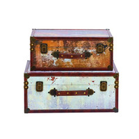 Classy Wood Trunk Set of 2